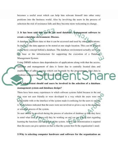 Discussion Questions (Information Systems)