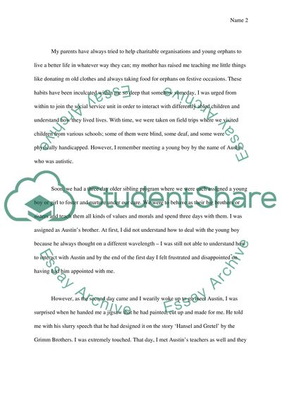 Personal experience essay examples