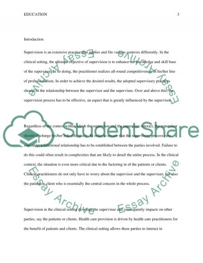 A Case Study of Supervision essay example