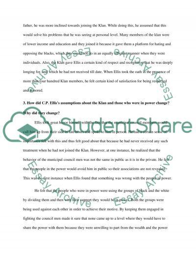 C.P. Ellis essay example