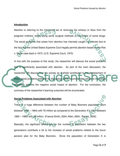 Health Care Essay Topics Social Problems Caused By Abortion  Essay Example Othello Essay Thesis also Persuasive Essay Thesis Statement Social Problems Caused By Abortion Essay Example  Topics And Well  Essay About Science And Technology