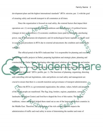 Roads and Transport Authority essay example