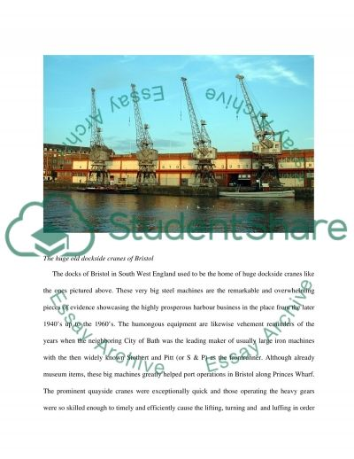 Dockside Cranes essay example