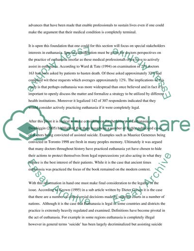 Research paper euthanasia