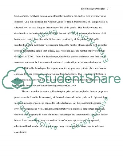 Teenage Pregnancy Essay essay example