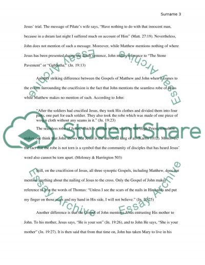 essay on the synoptic gospels Dating the synoptic gospels assumption a  matthew and luke used mark as a major source view no 1: mark written in the 50s or early 60s ad (1) matthew written in late 50s or the 60s.