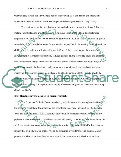 Diabetes in the Young essay example