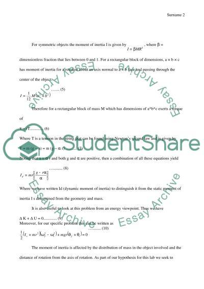 Rotational Motion essay example