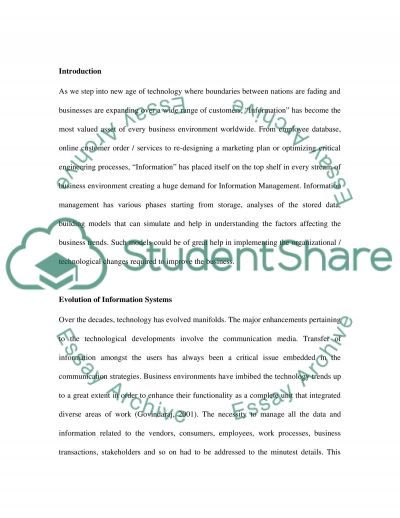The Pursuit of Information essay example