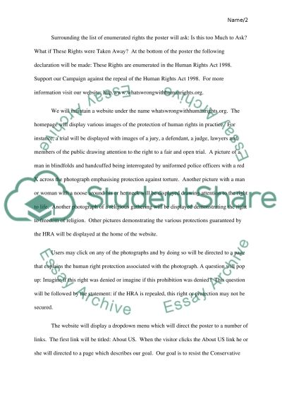 human rights campaign proposal and rationale essay human rights campaign proposal and rationale essay example