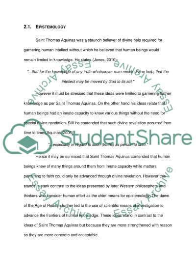 saint thomas aquinas research paper example topics and well  saint thomas aquinas essay example text preview