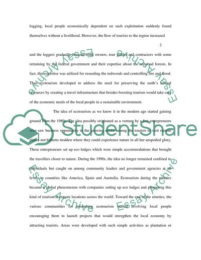 Thesis Statement Argumentative Essay Outline The Development Of Global Ecotourism Over The Last  Years What  Has Fuelled Its English Essay also Science And Technology Essays Outline The Development Of Global Ecotourism Over The Last  Years  Genetically Modified Food Essay Thesis
