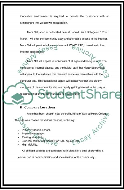 Mera.Net Cafe essay example