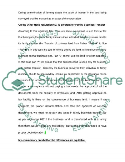 Exemption(s) for Certain Conveyances of Family Farms or Family Business essay example