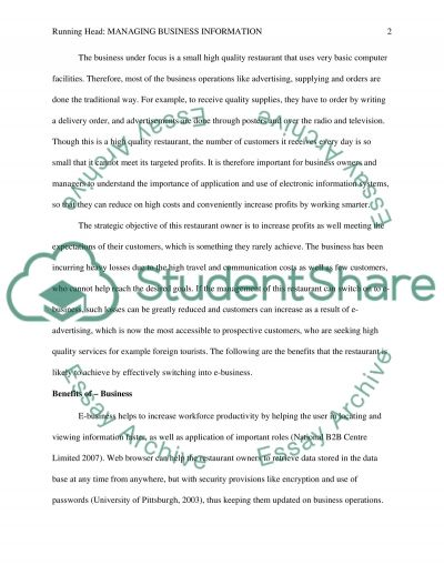 Competing Through Marketing Managing Information  essay example
