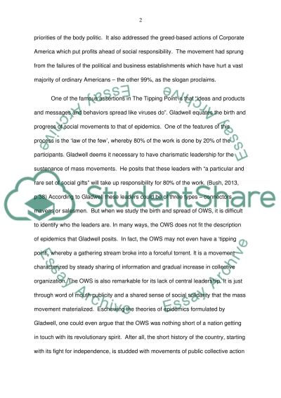 Descriptive Essay On Nature I Would Like You To Apply The Occupy Movement To Gladwells Ideas And  Philosophy In The Cheat Essay also Essay Help Service I Would Like You To Apply The Occupy Movement To Gladwells Ideas And  Example Of A Thesis Statement For An Essay