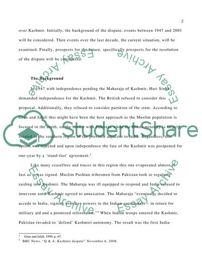 What Is A Thesis Statement In An Essay Kashmir Conflict Science Essays also High School Personal Statement Sample Essays Kashmir Conflict Essay Example  Topics And Well Written Essays  Examples Of Essay Papers