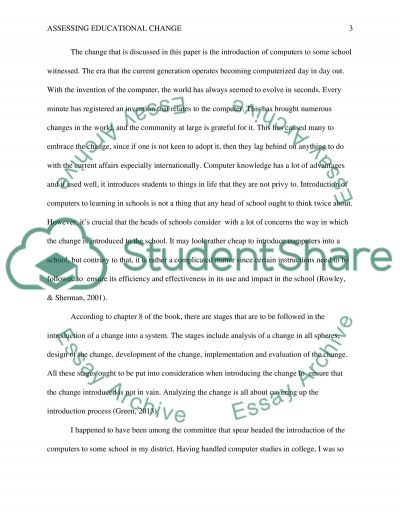 Assessing Educational Change essay example