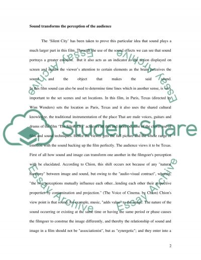 Sound Shaping Images essay example