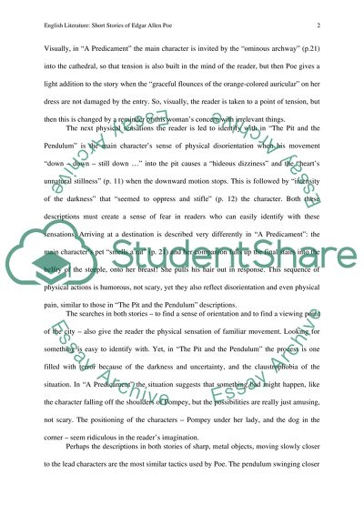 Sample Essay English Poe Philoshophy Of Composition The Pit And The Pendulum And A Predicament Compare And Contrast Essay On High School And College also Persuasive Essay Paper Poe Philoshophy Of Composition The Pit And The Pendulum And A Essay How To Write A Proposal Essay Paper