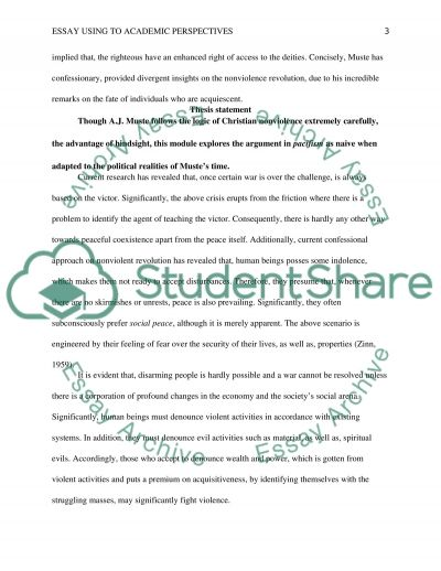 Essay Using To Academic Perspectives Essay example