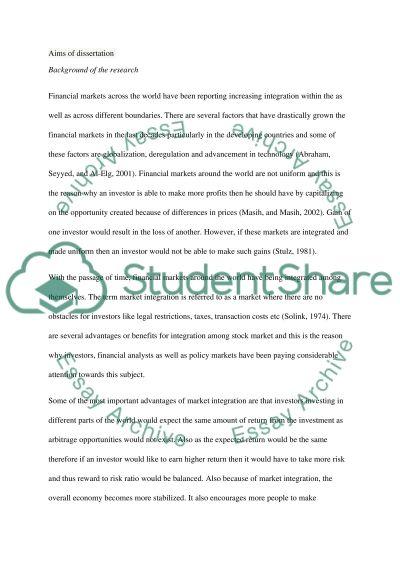 Management Dissertation Proposal Proforma