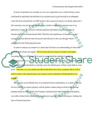 Communication And Interpersonal Skill Essay Example Topics And
