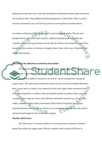 Supply Chain Development essay example