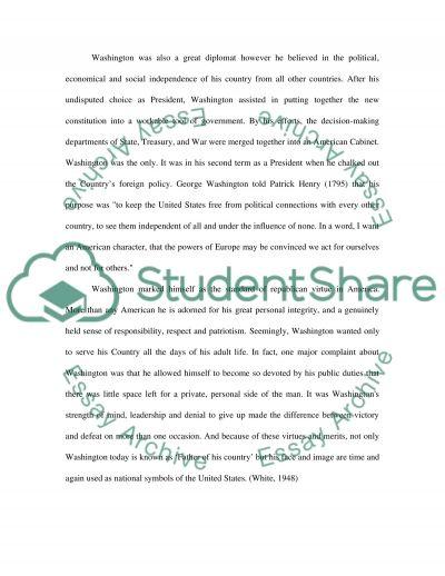 George Washington Essay essay example