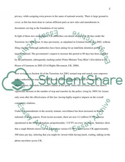 National Security Master Essay essay example