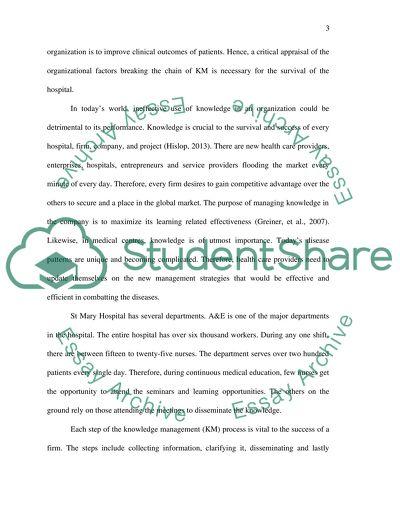 Knowledge Management ACADEMIC REPORT