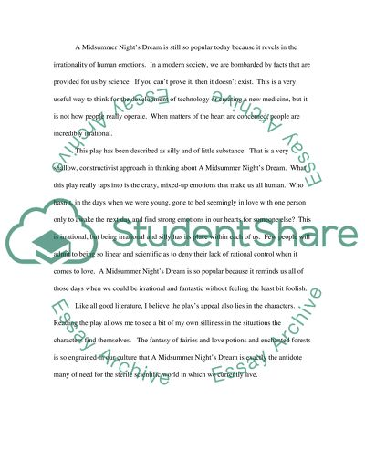 Essay On The War Of 1812 A Midsummer Nights Dream By William Shakespeare Titus Andronicus Essay also Teen Pregnancy Essays A Midsummer Nights Dream By William Shakespeare Essay What To Do A Persuasive Essay On