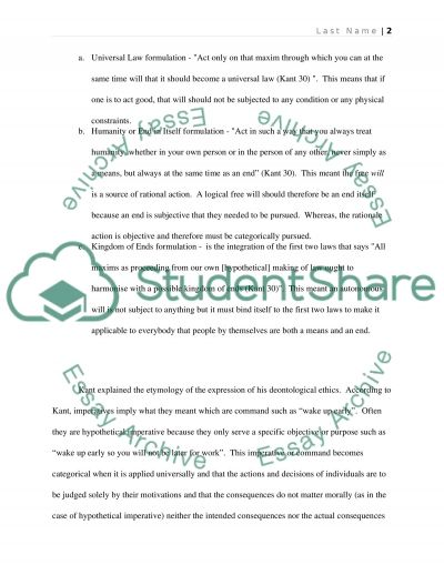 Final Essay essay example