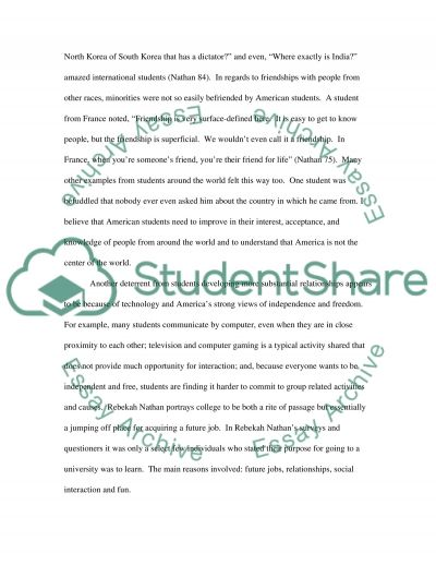 Rebekah Nathans My Freshman Year essay example