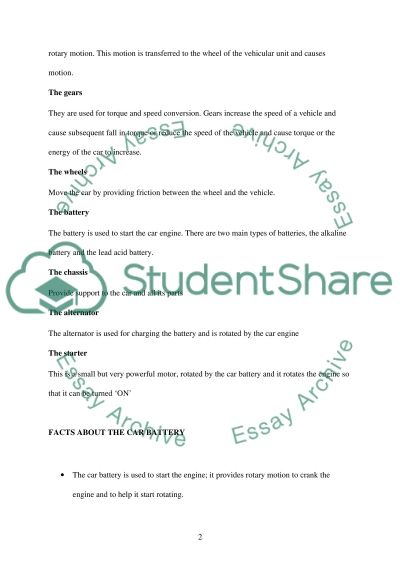 How to Replace a Car Battery essay example