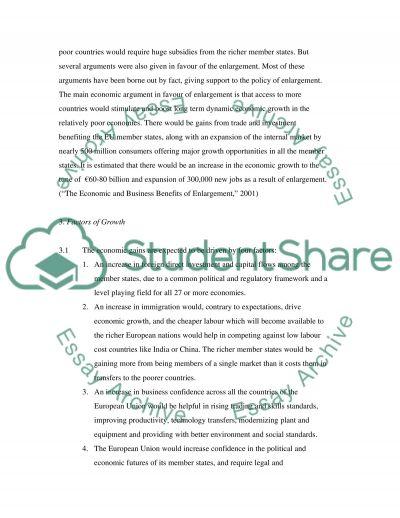 Enlargement of European Union essay example