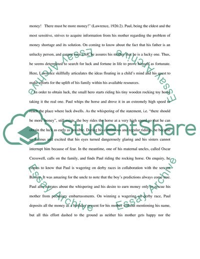 Essay the rocking horse winner by d h lawrence cover letter junior accountant position