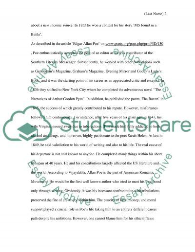 Edgar Allan Poe essay example