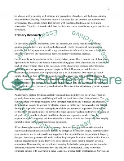 Autistic children: using two different methods to investigate one question essay example
