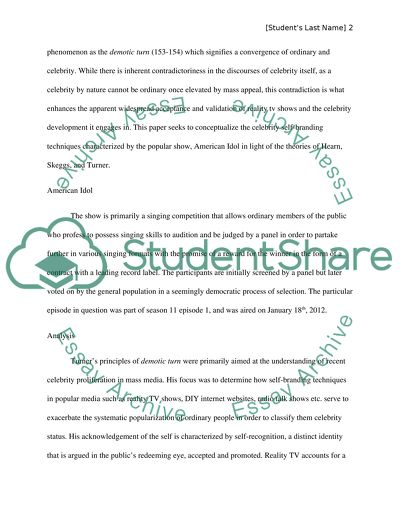 Analyze readings and tv episode Essay Example | Topics and Well