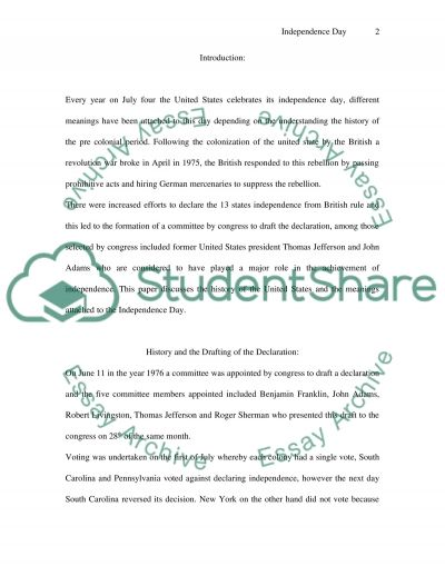 Independence Day essay example