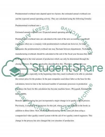 Manufacturing Overhead Paper essay example