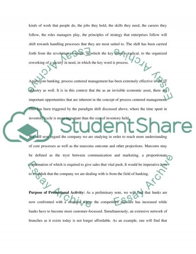 Process Centered Management essay example