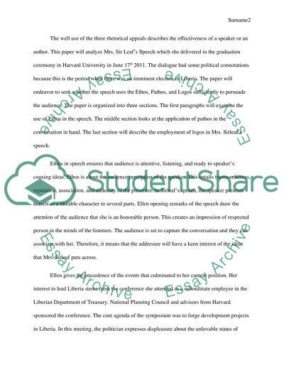 An Analysis of Mrs. Sirleafs Speech