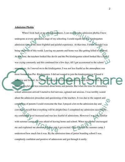 Essay for high school
