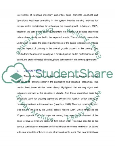 Nigerian Banking essay example