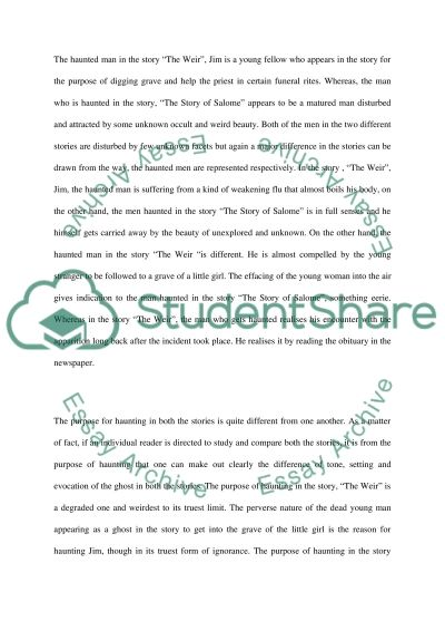 Writing the supernatural essay example