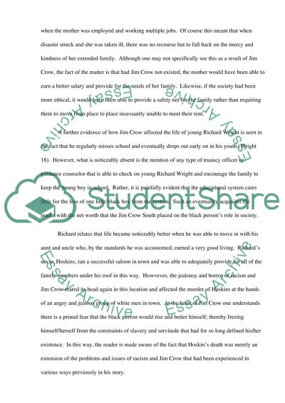 Learning English Essay Example Black Boy Term Papers And Essays also General Paper Essay Black Boy Essay Example  Topics And Well Written Essays   Words How To Write A Thesis Sentence For An Essay