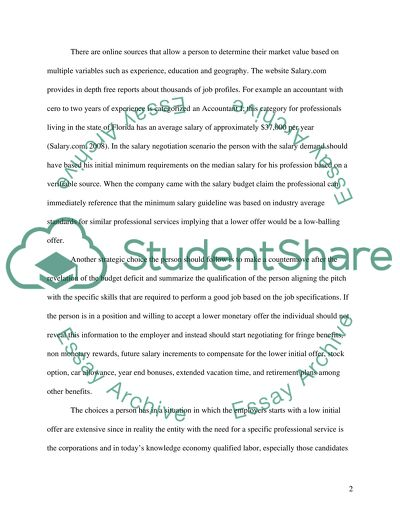 Sample Salary Negotiation Letter After Job Offer from studentshare.info