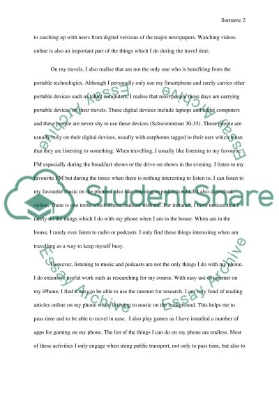 article reflection in urben design Essay example